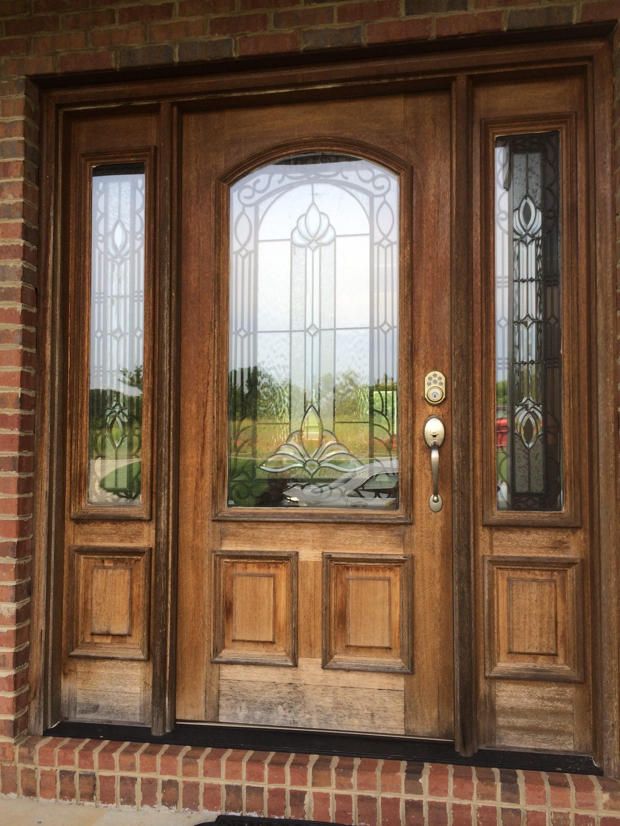 unfinished decorative front door