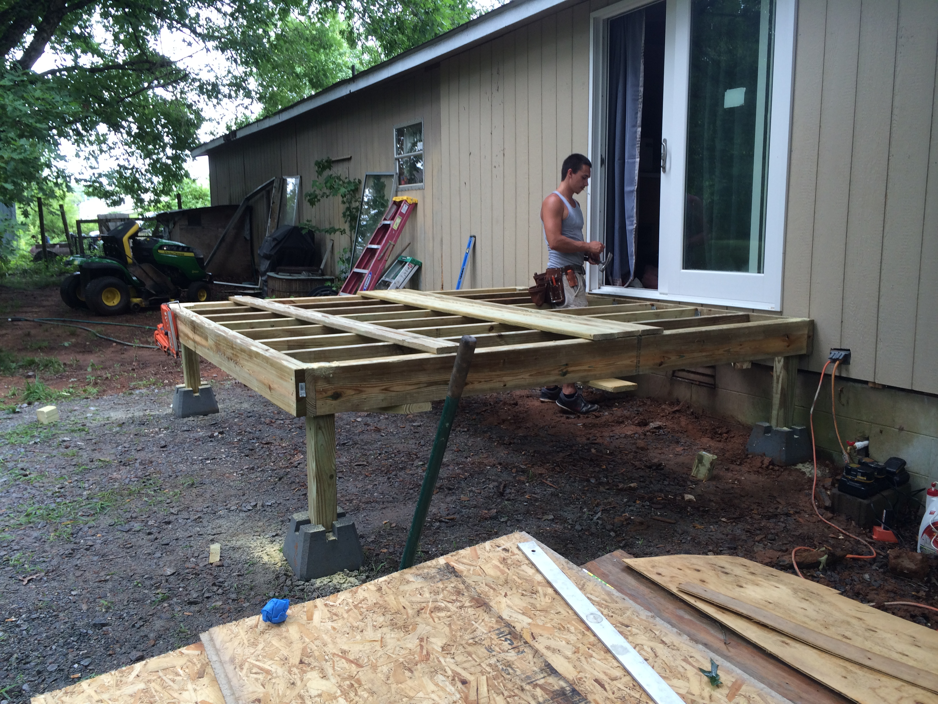 new deck construction